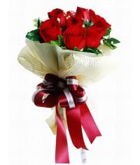 Valentínska kytica s prekvapením