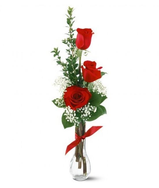 Prejav nežnosti 3ks ruží
