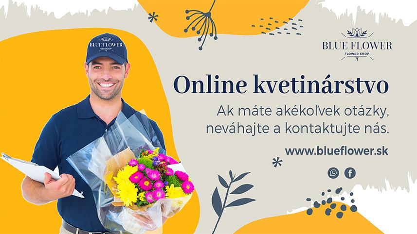 Kvetinárstvo Blue Flower- Bratislava, doručenie kytíc